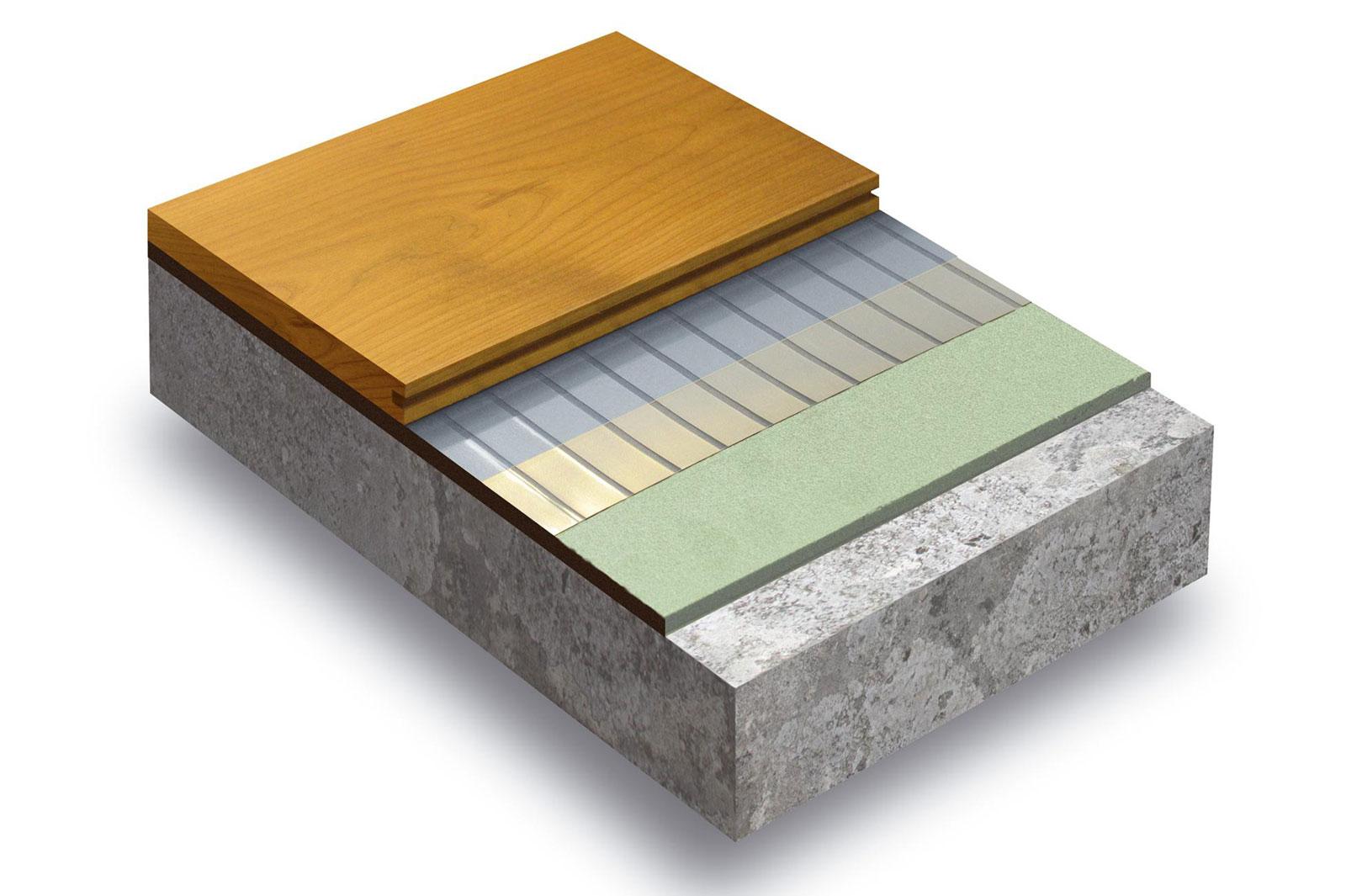 Lattialämmitys puulattiaan Infraheat lattialämmityskelmu neliöteho 90W leveys 50cm